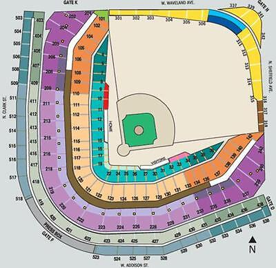 2 Chicago Cubs Vs Los Angeles Dodgers Tickets - RING CEREMONY - 4/12 - HARD TIX