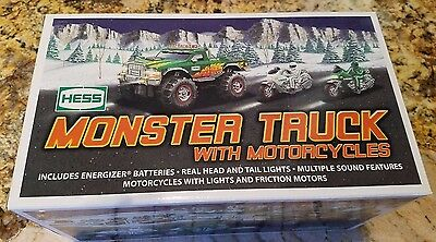2007 Hess Monster Truck with Motorcycles -New In Box, Never Opened
