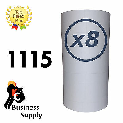 White 1115 labels for Monarch two line price gun 8 sleeves=80 rolls includes ink