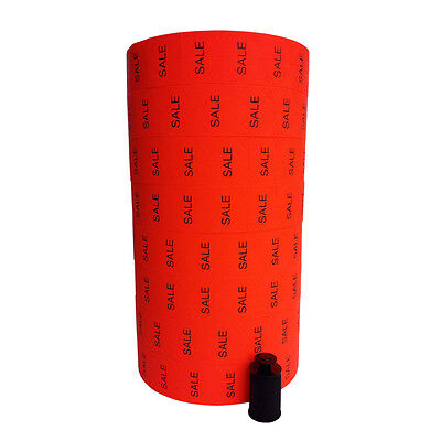 Monarch 1136 Price Gun Labels SALE red labels - ink roller included Made in USA