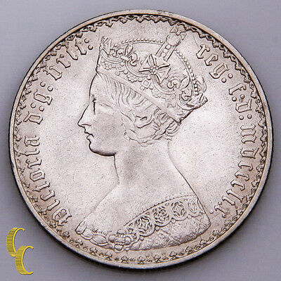 1859 Great Britain Florin Silver Coin In XF, KM# 746.1