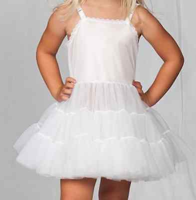 Girls Full Slip Adjusts Bouffant Petticoat Crinoline 2T-14 Ruffles Layers