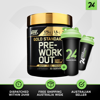 Optimum Nutrition Gold Standard Pre Workout | ON Energy Focus Boost | Free Gift!