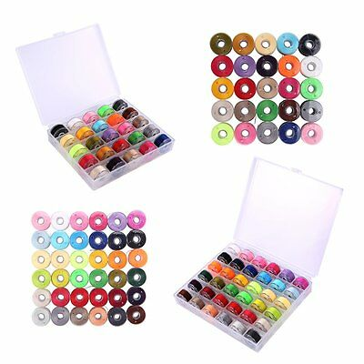 25/36 Pcs Sewing Machine Bobbins and Sewing Thread with Case For Brother Singler