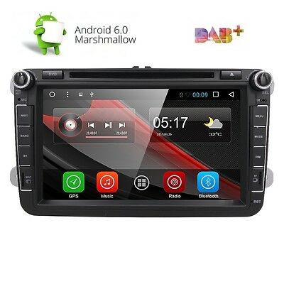 """8"""" Android 6.0 Car Radio Stereo DVD Player GPS Navi Multimedia DAB+ 1080P for VW"""
