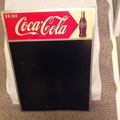 1954 Drink Coca Cola Chalk Board-Menu Board Sign With Bottle-Nice!