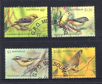 2013 Australian Decimal Stamps - Pardalotes (Birds) - CTO set of 4