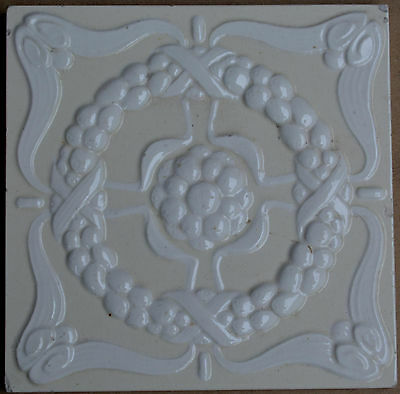 Unbrand European - Antique Art Nouveau Majolica Tile C1900