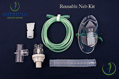 Adult Aerosol Nebulizer Mask W/ Reuseable Neb Kit for Asthma COPD Drive Medical