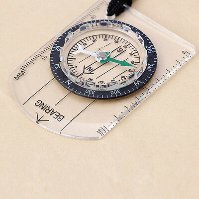 Baseplate Ruler Map Scale Camping Hiking Walking Survival Compass Emergency 1Pc