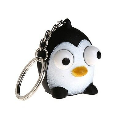 Tumled Eyes Doll Squeeze Vent Toy Stress Relieving Keyring Key Chain Ring Gift