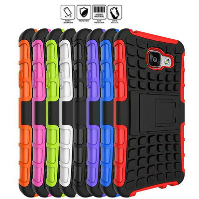 For Samsung Galaxy A3 A5 A7 Rugged Armor Hybrid Rubber Hard Stand Case Cover