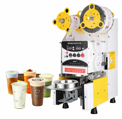 NEW Full Automatic Bubble Tea Cup Sealing machine Fruit Juice Cup Sealer 220V A