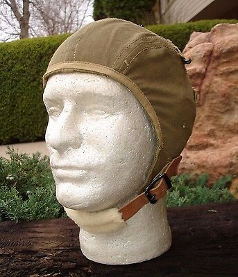 Wwii Us Army Air Force Corps A-9 Helmet Skull Cap Hat Size Large