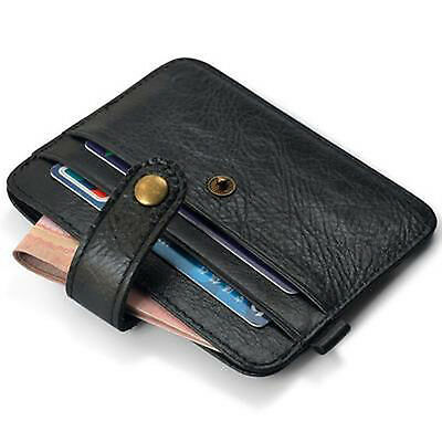 New Men's Leather Wallet ID Credit Card Holder Coin Purse Clutch Bag Black Brown