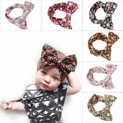 6Pcs Kids Girl Baby Toddler Infant Flower Headband Hair Bow Band Accessories