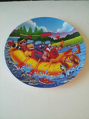 """1998 McDonald's Plastic River Rafting 9 1/2"""" Collector Plate"""