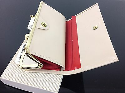 Vintage Lady Buxton Leather French Clutch Folding Purse Wallet New in Box