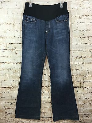 Maternity Citizens Of Humanity Jeans Belly Panel Size 30 Boot Cut Distressed