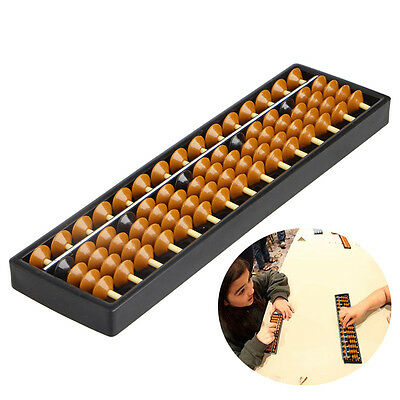 15 Digits Abacus Arithmetic Plastic Tool Kid's Math Learn Aid Caculating Toys
