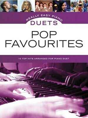 REALLY EASY PIANO DUETS - Pop Favourites Book *NEW* Music Songs 16 Top Hits