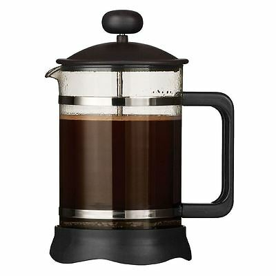 Mocha Cafetiere, Matt Black Heat Resistant Glass Insert, 6 Cup/850ml