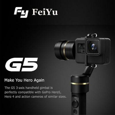 Feiyu Tech G5 3-Axis Splashproof Handheld Gimbal For Gopro Hero5 Action Camera