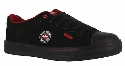 Lee Cooper - Mens/Womens Plimsole Lace Up Safety Trainers - Steel Toe