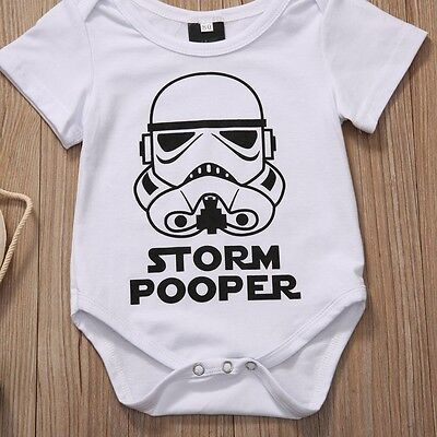 Funny Newborn Infant Baby Boy Girl Romper Bodysuit Playsuit Clothes Outfits 0-18