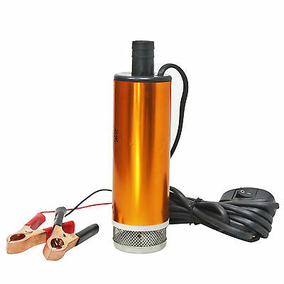 12V Mini Submersible Diesel Water Pump Fuel Oil Liquid Transfer RPM 8500