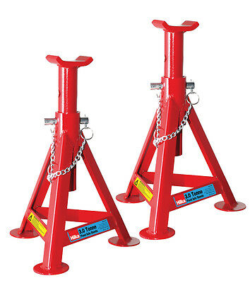 Heavy Duty Hilka 3 Ton Tonne Fixed Axle Stand Stands Jack In Red