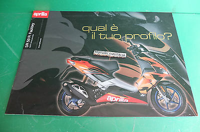 Aprilia Sr 50 R Factory Scooter Racing Catalogo Brochure Depliant Catologue