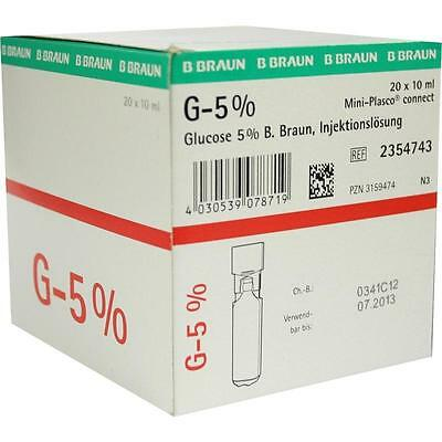 GLUCOSE 5% Braun Mini Plasco connect   20x10 ml   PZN3159474