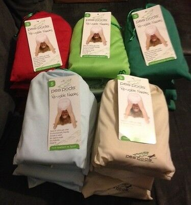 Brand new Peapods Re-Usable Nappies - 0-9 months