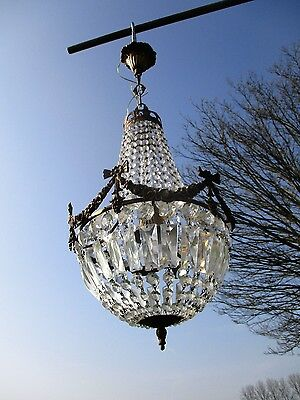 Bag and Tent Basket Chandelier crystal Prisms French Empire Guirlandes Beautiful