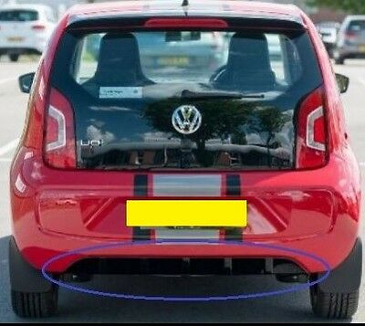 New Genuine Vw Rock Up Up! Piano Black Rear Lower Bumper Diffuser Spoiler