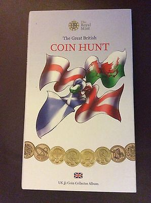 Royal Mint Great British Coin Hunt £1 Pound Coin Album First Edition - No Coins