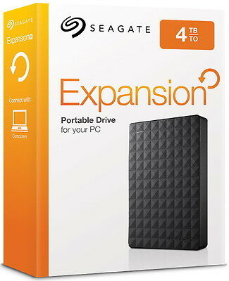 Seagate HDD externe Festplatte Expansion Portable 2,5 Zoll 4TB USB 3.0 schwarz