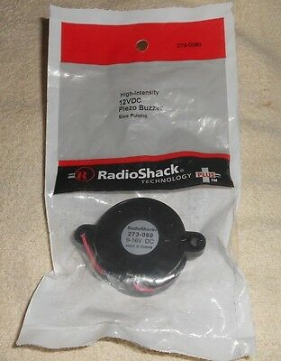 Radio Shack High Intensity 12Vdc Piezo Buzzer 273-0080 Slow Pulsing