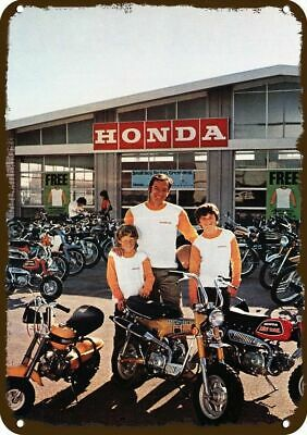 1972 HONDA MOTORCYCLE Vintage Look Replica Metal Sign -DAD & SONS BUY MINI BIKES