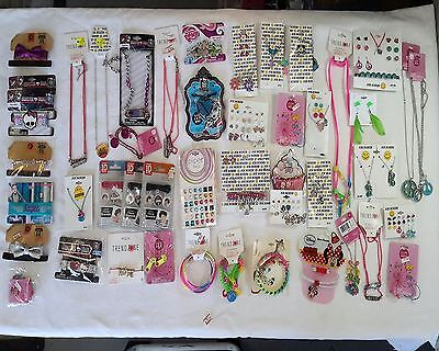 Wholesale Lot of 100 Assorted Costume Fashion Girl Teen Tween Jewelry Brand Name
