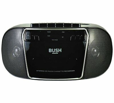 Bush CD Radio Cassette Boombox - Black/Silver KBB500
