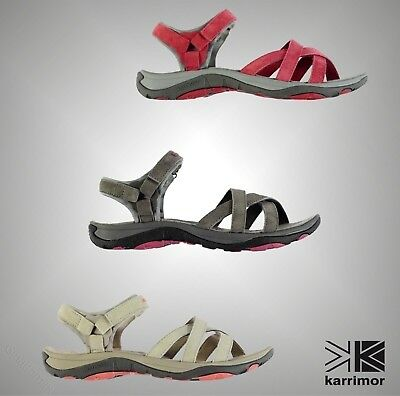 New Ladies Karrimor Cross Strap Salina Leather Outdoor Walking Sandals Size 4-8