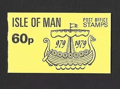 1979  ISLE OF MAN STAMP BOOKLET SB10  '60p BOATS'