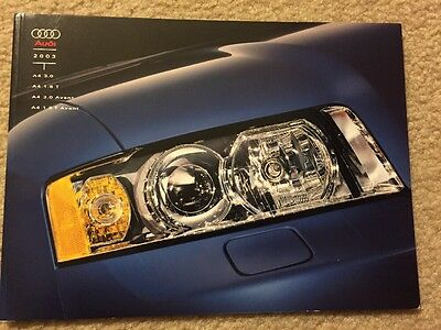 2003 Audi A4 40 Page Deluxe US Sales Brochure