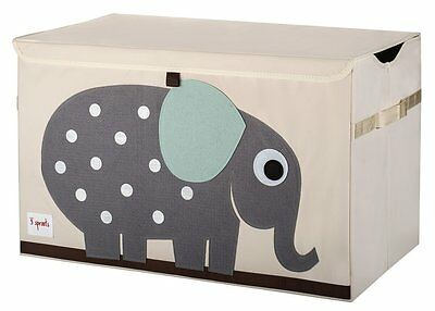Elephant Toy Chest Organizer Basket Kids Room Decor Nursery Baby Grey Kids New