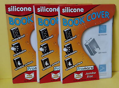 """3Pk Kittrich Jumbo Size Silicone Book Covers 8""""x10"""" ~  Free Shipping"""