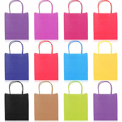 27cm x 21cm Paper Carrier Present Gift Bags Christmas Wedding Birthday Loot Bag