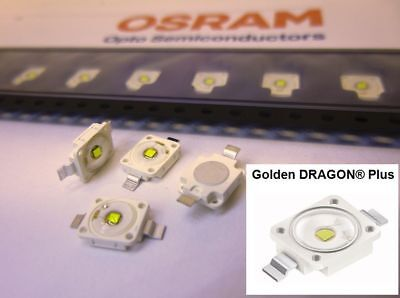 10 Stück/10pieces OSRAM Golden DRAGON Plus LED  5700K  >1.2W COOL WHITE LUW W5AM