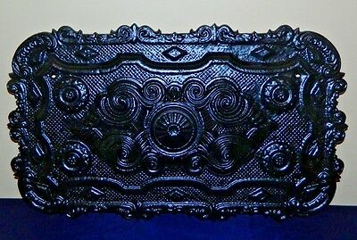 Antique Ornate Cast Iron Cover For Wood Stove Or For Wall Decoration  Not Marked